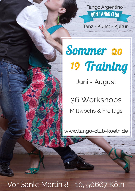 Tango Argentino Workshop Sommer Training Koeln
