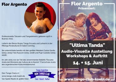 Tango Argentino Koeln Ausstellung Film Workshop Auftritt Flor Argento