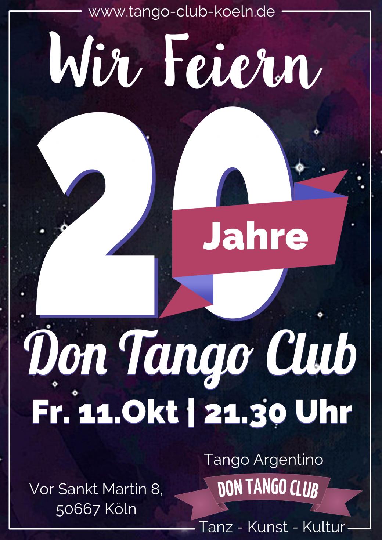 Tango Argentino Koeln Jubilaeum Milonga Feier 20 Jahre Don Tango Club