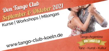 Don Tango Club Kurse September Oktober 2021 Tango Argentino Koeln
