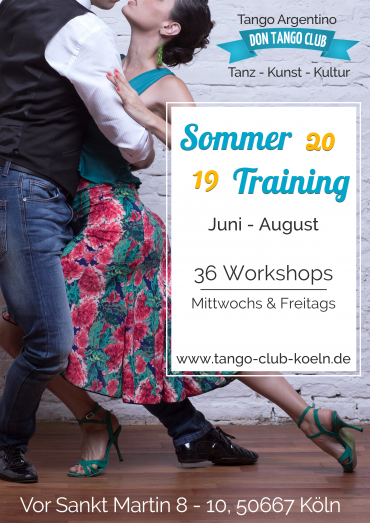 Tango Argentino Workshop Sommer Training Koeln