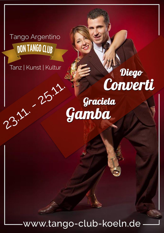 Don Tango Club Koeln Diego Converti Graciela Gamba Workshop Auftritt 2018 Tango Argentino